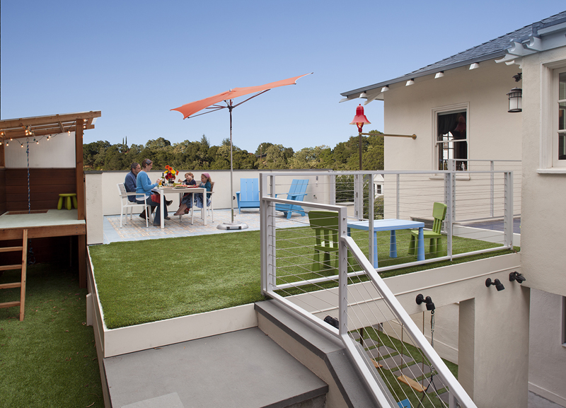 Astroturf upper patio