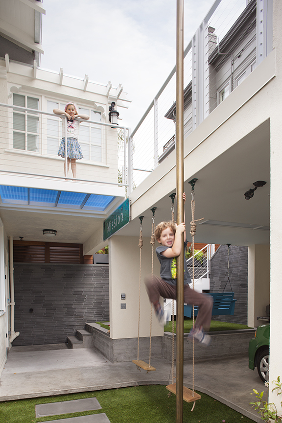 Kids Fire Pole and Swings
