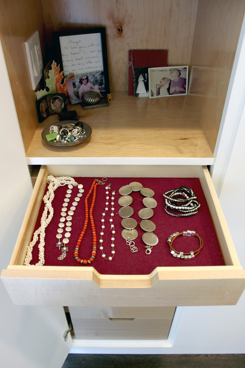 Built In Jewelry Drawer