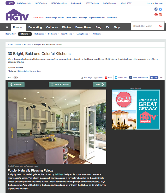 HGTV Colorful Kitchens