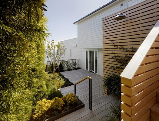 Alaskan Yellow Cedar Deck and Garden Wall