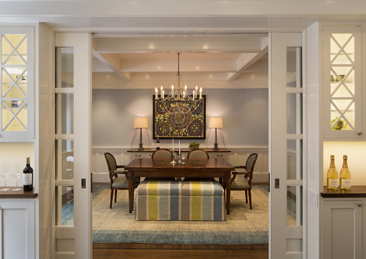 Blue Traditional Dining Room Remodel