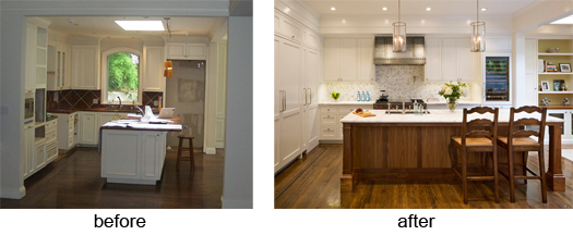 Kitchen remodel before after