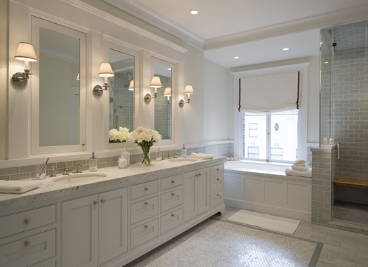 White Marble Bathroom Remodel