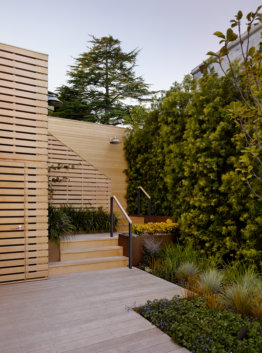 Yellow Cedar Deck and Garden Wall