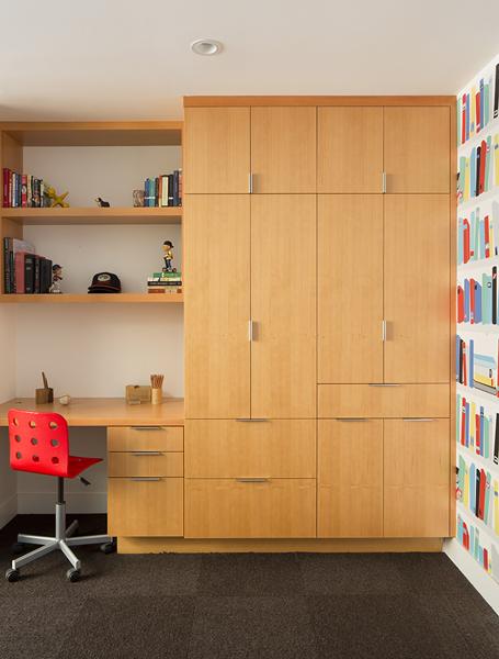 5 boys room custom storage