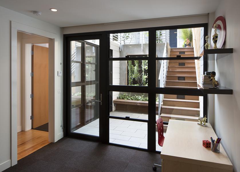 6 floor to ceiling steel windows