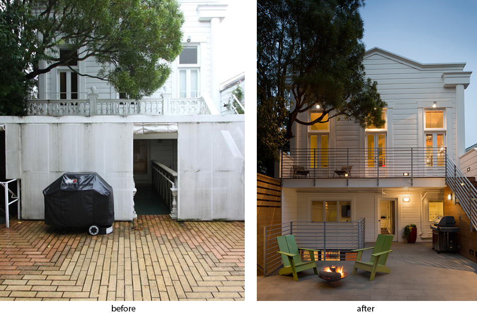 rear facade remodel before after