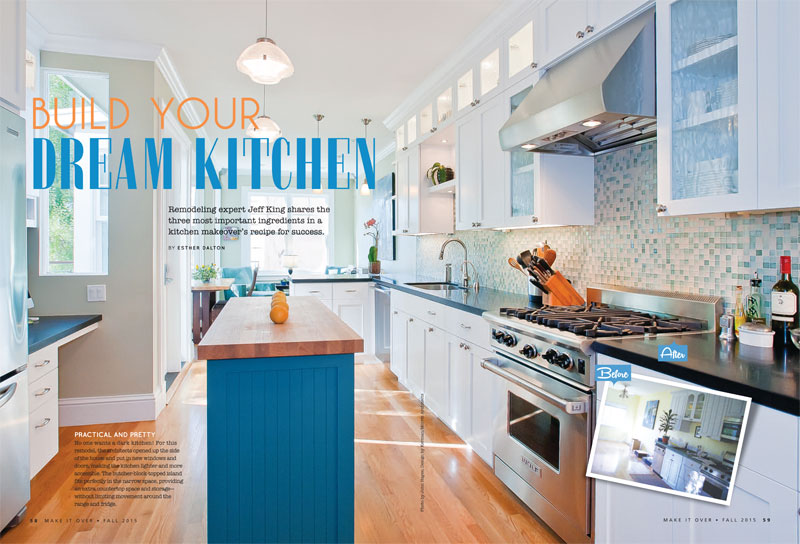 blue kitchen remodel - Kitchen Remodeling Magazine