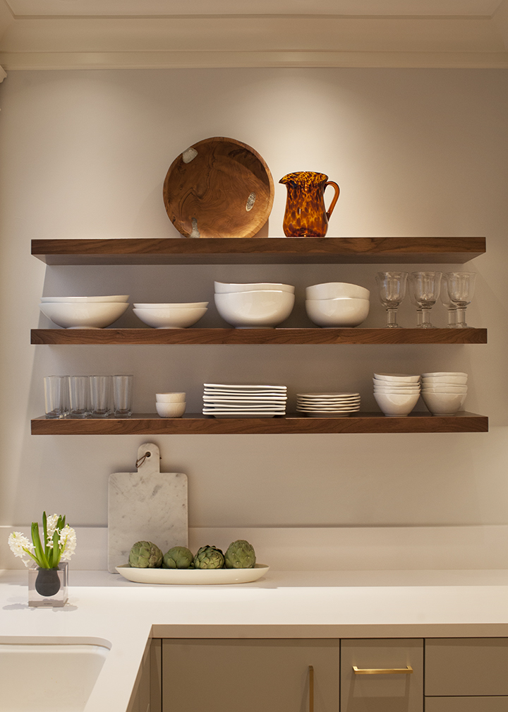 Beautiful Walnut Shelves Kitchen Storage. U201c