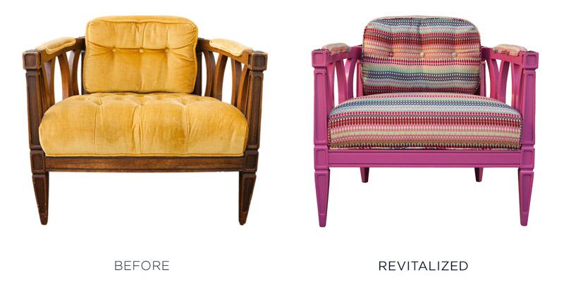 Reupholstered Vintage Chair