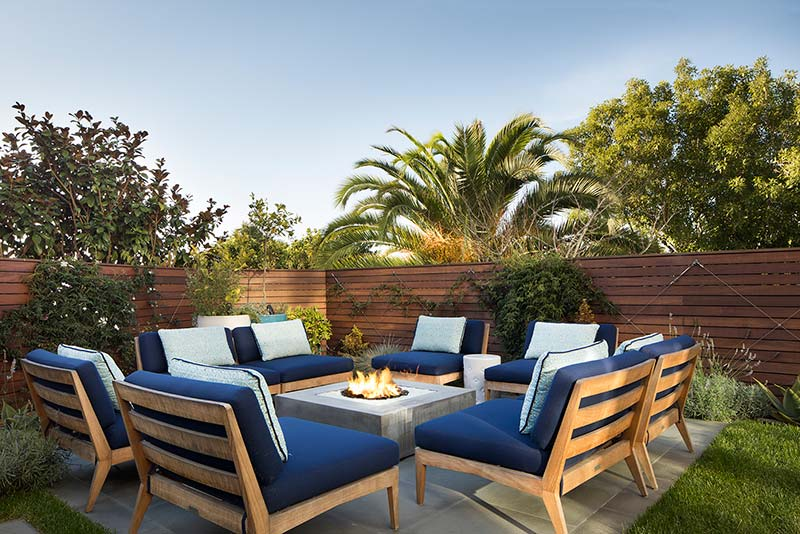 San Francisco Backyard Remodel with Concrete Fire Pit