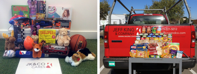 Jeff King Co holiday toy food drive