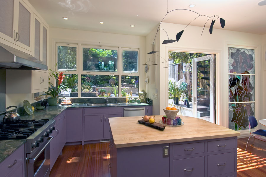 Purple Kitchen Remodel Featured on Houzz - Jeff King and Company ...