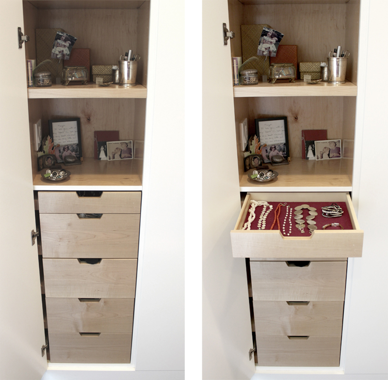 Details For Her: Custom Cabinetry For Shoes, Jewelry