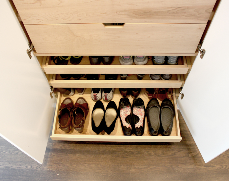 Details For Her Custom Cabinetry For Shoes Jewelry