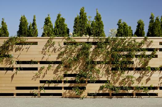 Horizontal Panel Wood Privacy Fence