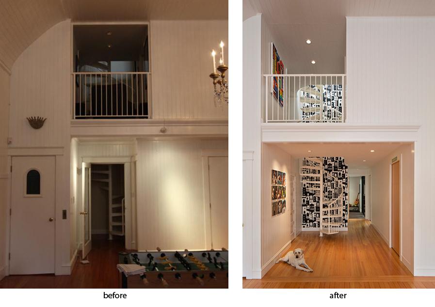 hallway remodel before after v2