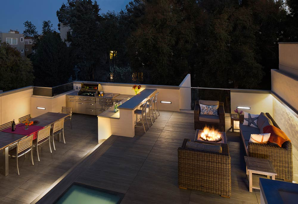 outdoor kitchen roof pergola roof deck san francisco the ultimate deck remodel