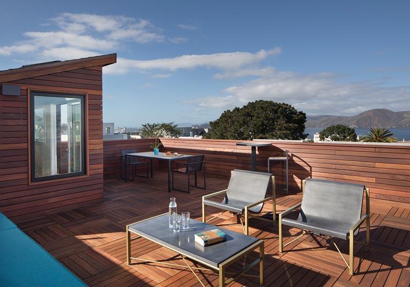 Ipe Wood Palettes Roof Deck Remodel